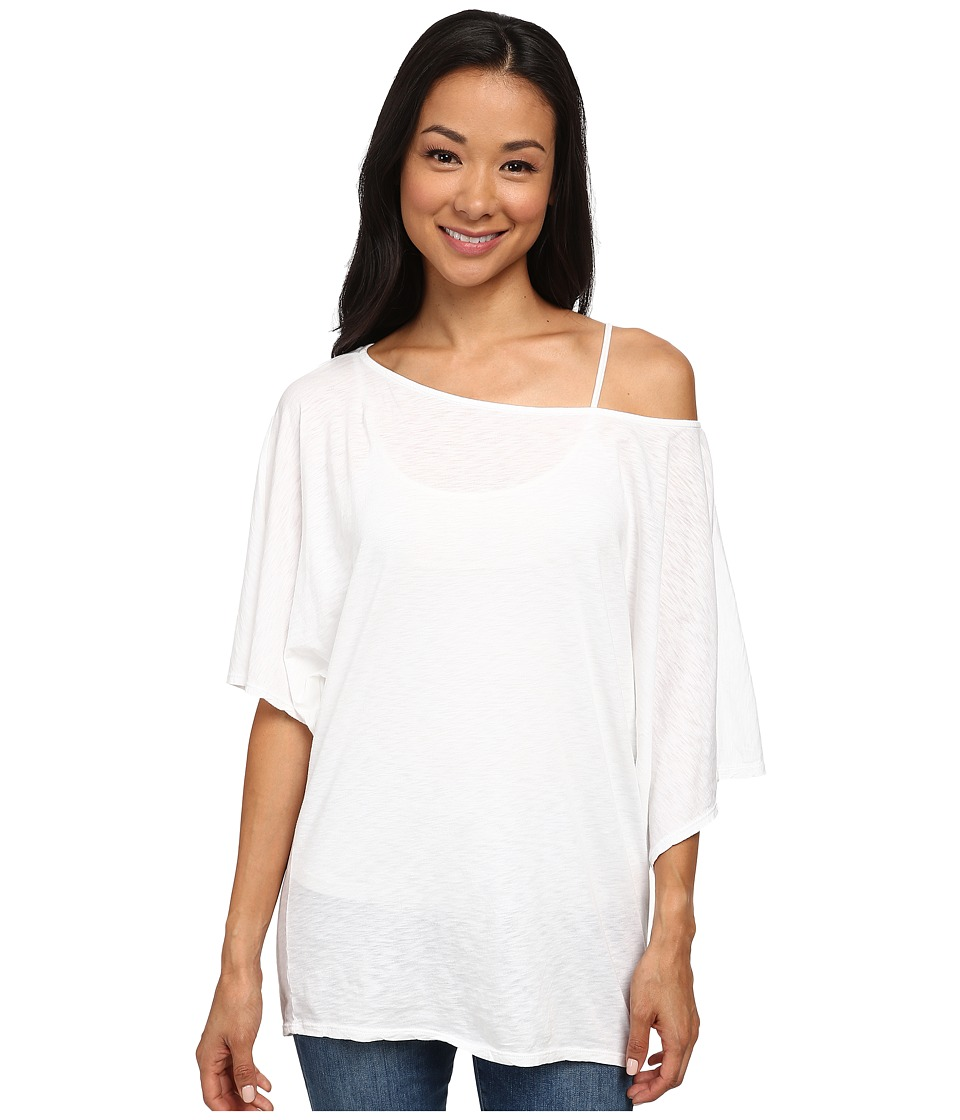 Michael Stars - S/S Slub Off-Shoulder Dolman (White) Womens Short Sleeve Pullover