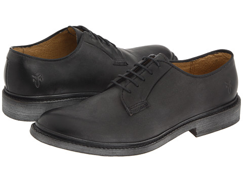 Shop Frye online and buy Frye James Oxford Black Vintage Leather Shoes - Frye - James Oxford (Black Vintage Leather) - Footwear: Old school style with a modern appeal. ; Rich and luxurious leather upper. ; Smooth leather lining. ; Cushioned leather footbed. ; Durable leather outsole. Measurements: ; Weight: 14 oz ; Product measurements were taken using size 6, width B - Medium. Please note that measurements may vary by size.