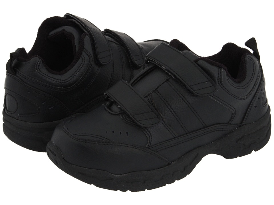 School Issue - Athletic HL (Toddler/Little Kid/Big Kid) (Black Leather) Boys Shoes