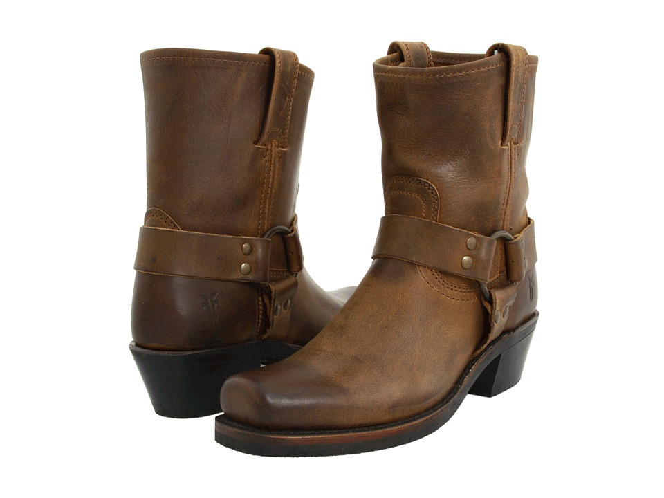Frye - Harness 8R (Dark Brown Washed Oiled Vintage) Women's Pull-on Boots