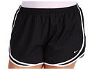 Nike Extended Sizing Tempo Track Short (Black/Black/White/(White)) Women's Shorts
