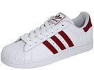adidas Originals - Superstar 2 (White/Cardinal) - Footwear