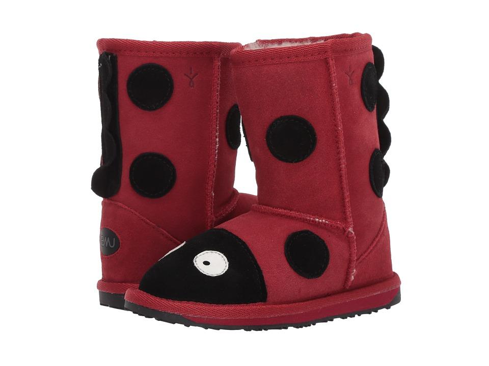 EMU Australia Kids Little Creatures (Toddler/Little Kid) (Red (Ladybug)) Girl's Shoes