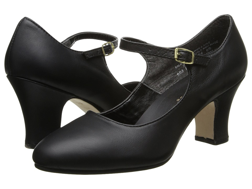 1940s Womens Shoe Styles Capezio - Manhattan Character Shoe Black Womens Tap Shoes $73.00 AT vintagedancer.com