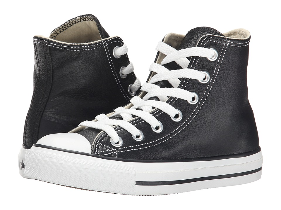 Converse Chuck Taylor All Star Leather Hi BlackWhite Classic Shoes