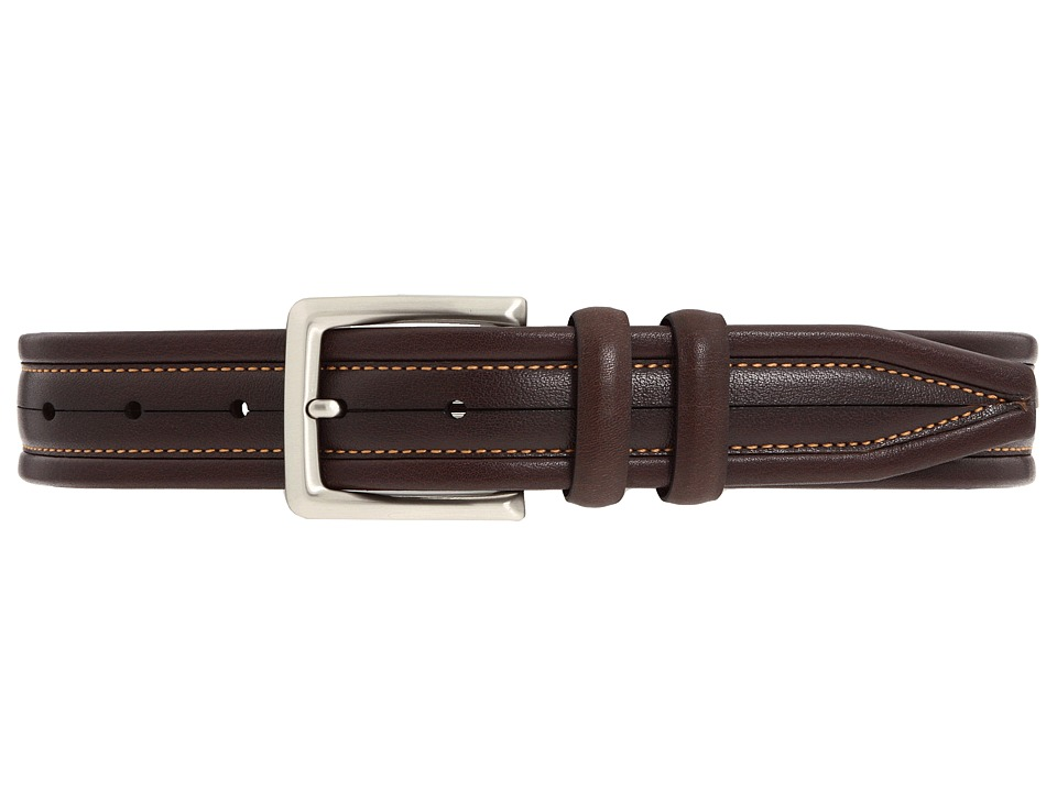 Johnston & Murphy - New Center Scored (Brown) Mens Belts