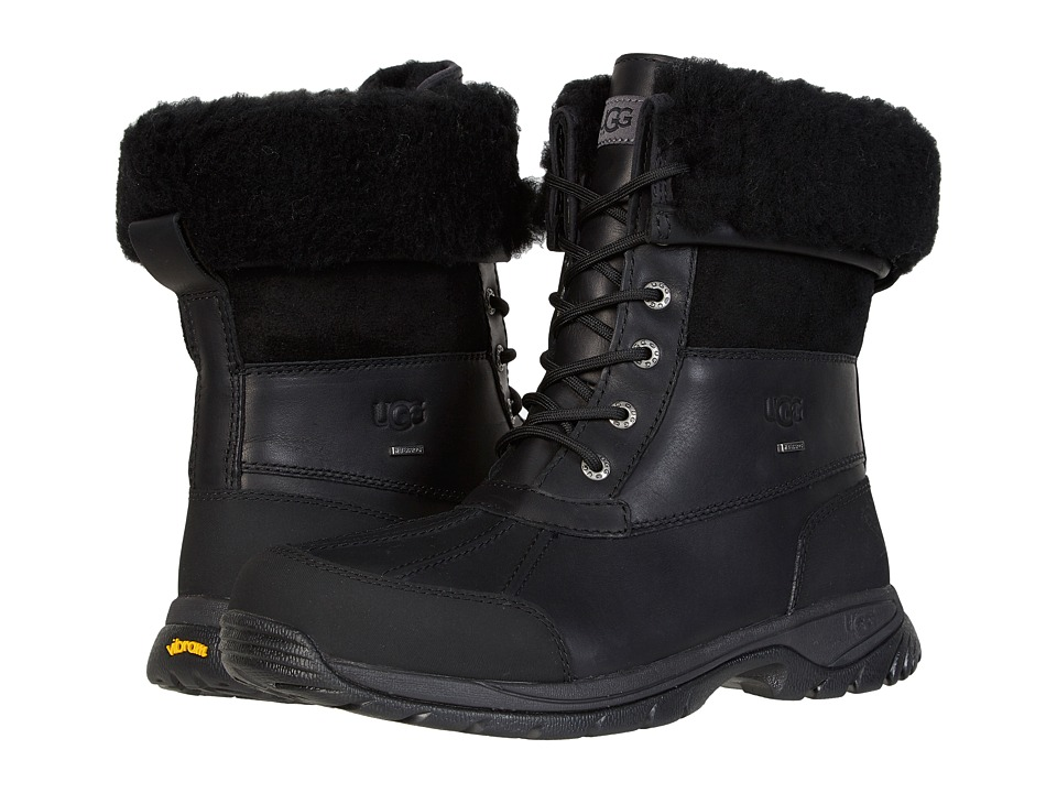 UGG - Butte (Black Leather) Men