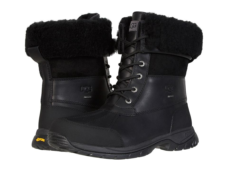 UGG Butte (Black Leather) Men