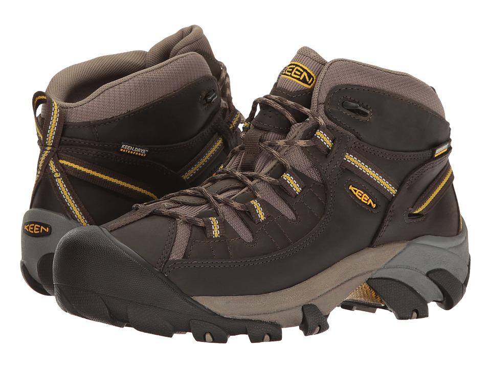 Keen Targhee II Mid (Black Olive/Yellow) Men's Waterproof Boots