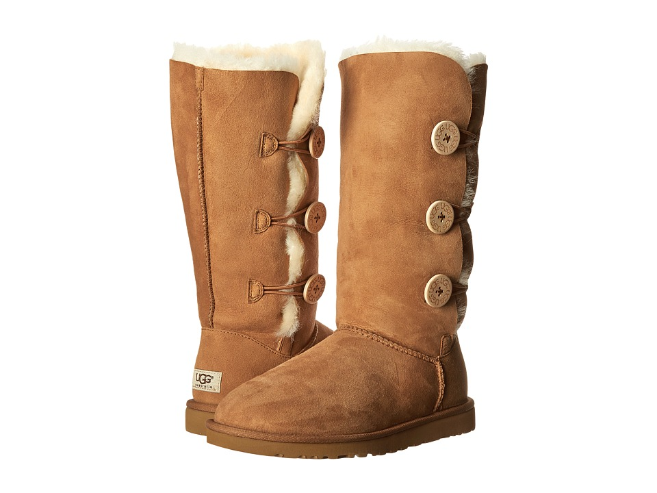 UGG - Bailey Button Triplet (Chestnut Sheepskin) Women