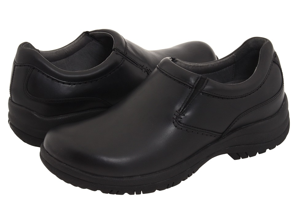 Dansko - Wynn (Black Smooth Leather) Mens Slip on  Shoes