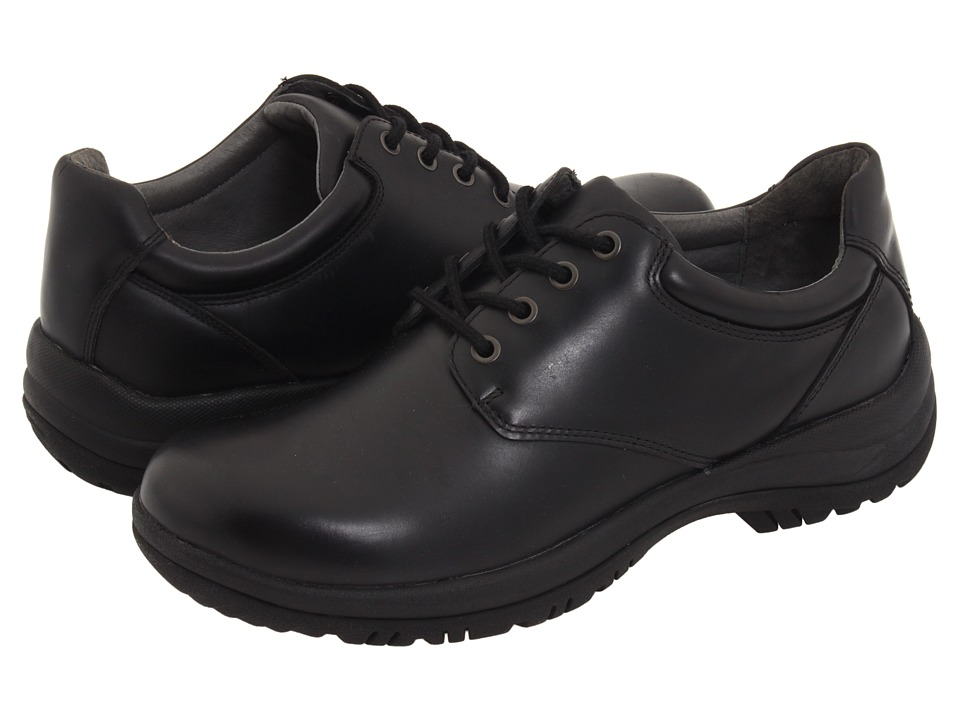 Dansko - Walker (Black Smooth Leather) Mens Lace up casual Shoes