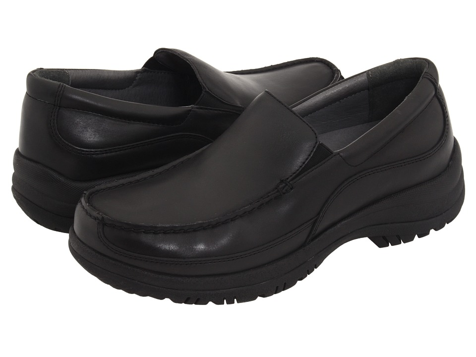 Dansko - Wayne (Black Full-Grain Leather) Mens Slip on  Shoes
