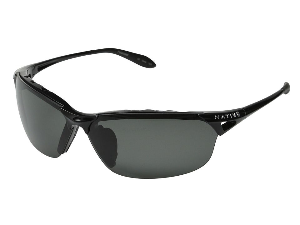 Native Eyewear Vigor Polarized (Iron/Gray Polarized Lens) Sport Sunglasses