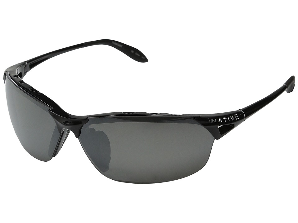 Native Eyewear - Vigor Polarized (Iron/Silver (Gray) Polarized Lens) Sport Sunglasses