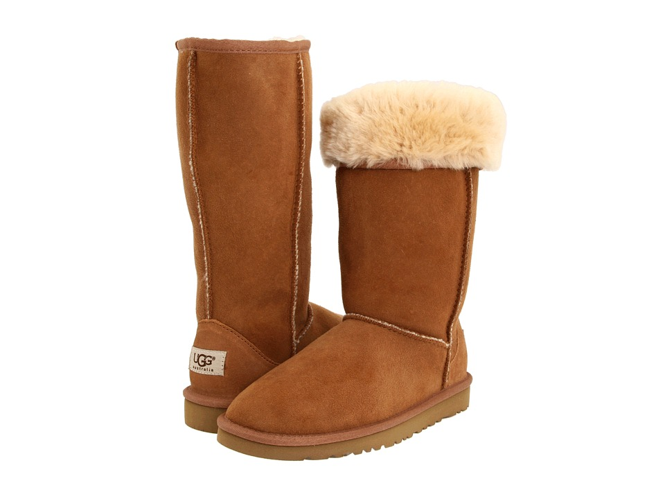 UGG Kids Classic Tall Little Kid/Big Kid Chestnut Girls Shoes