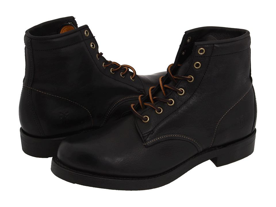 Frye Arkansas Mid Lace (Black Full Grain Leather) Men's L...