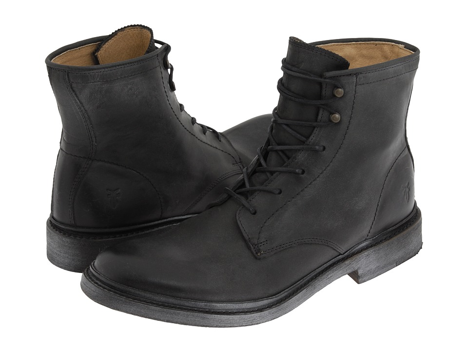 Frye - James Lace Up (Black Leather) Men