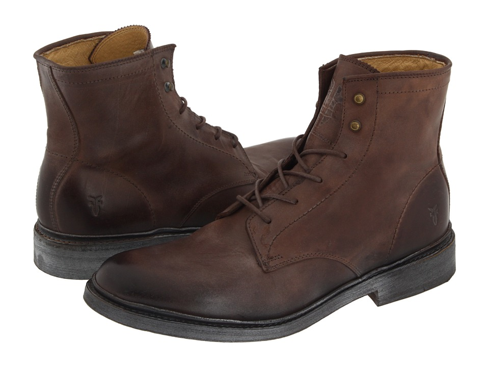 Frye - James Lace Up (Brown Leather) Men