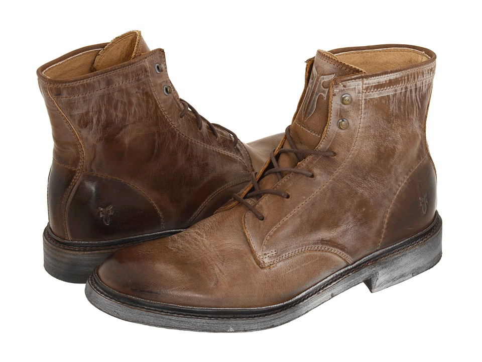 Frye - James Lace Up (Tan Leather) Men