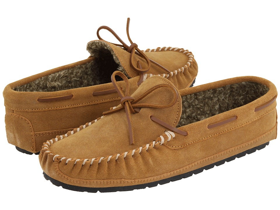 Minnetonka - Casey Slipper (Cinnamon Suede) Mens Moccasin Shoes