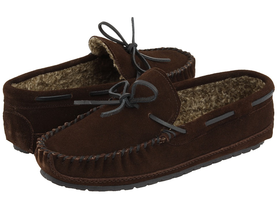Minnetonka - Casey Slipper (Chocolate Suede) Men