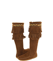 Minnetonka - Side-Zip Double Fringe Knee Hi Boot