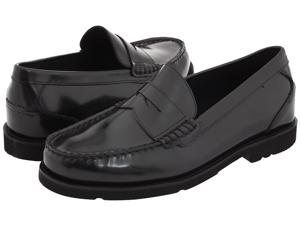 Rockport - Oak Knoll - Shakespeare Circle (Black Brush-Off Leather) Mens Slip-on Dress Shoes