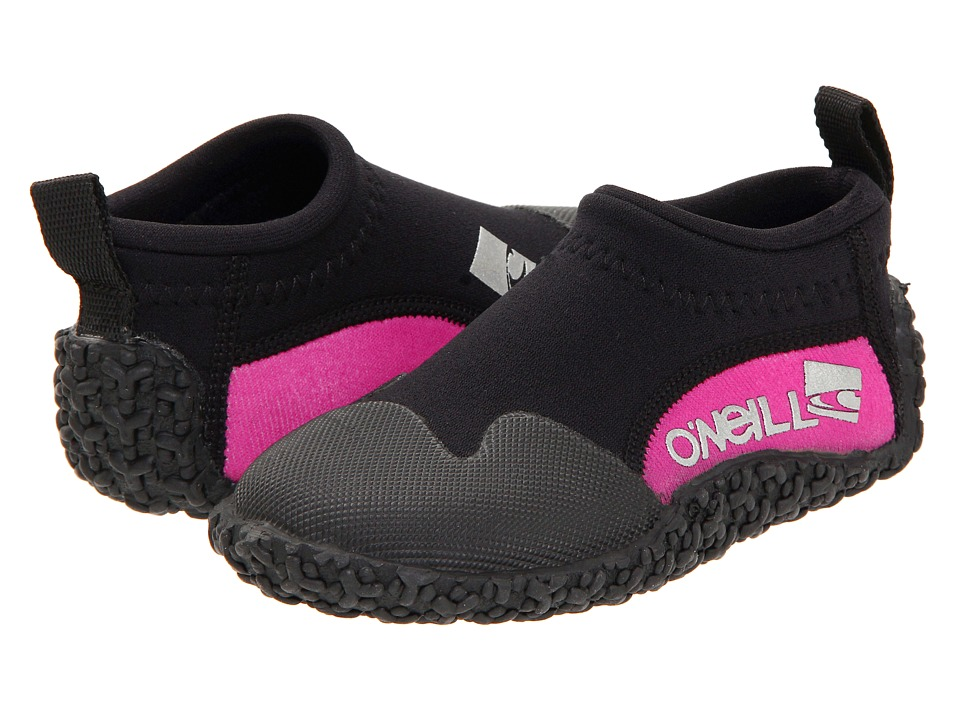 O'Neill Kids Reactor Reef Boot (Toddler/Little Kid/Big Kid) (Black/Punk/Pink) Girls Shoes
