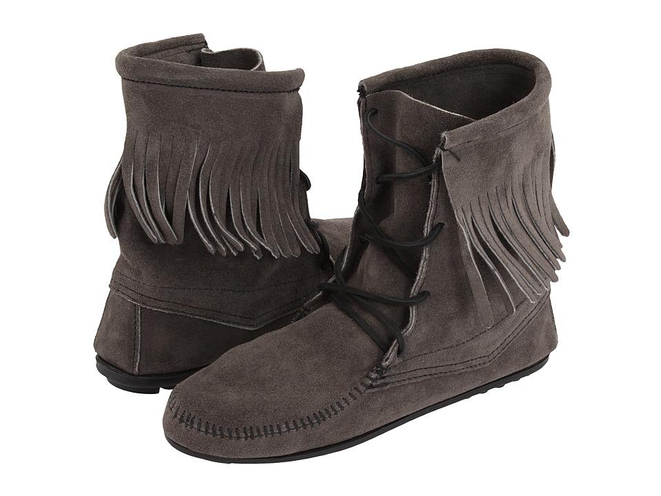 Minnetonka Tramper Ankle Hi Boot (Grey/Brown/White) Women