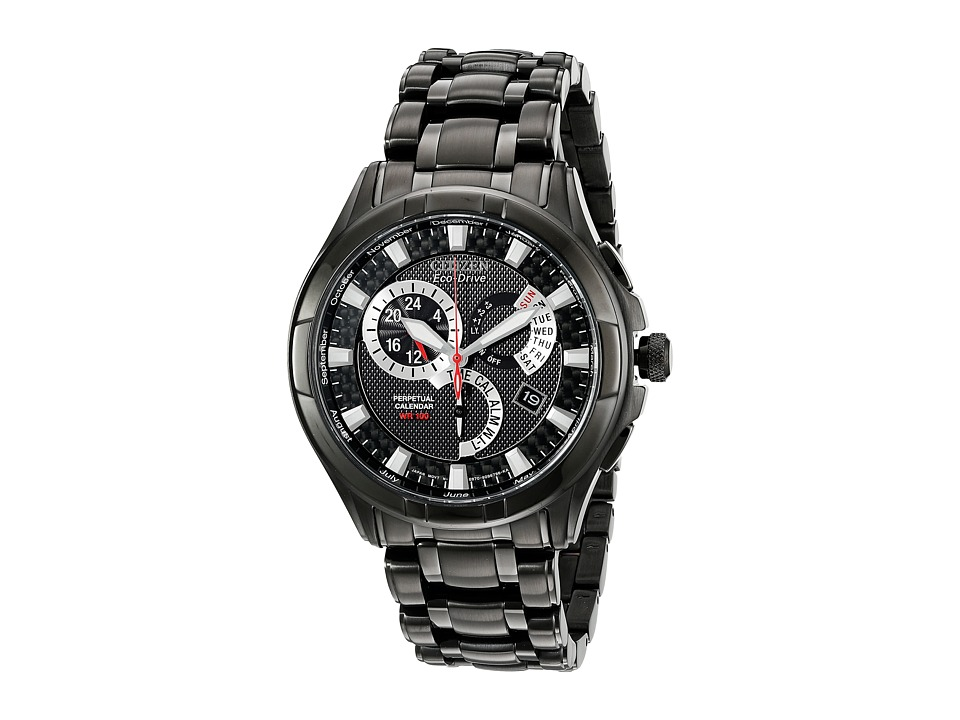 Citizen Watches BL8097 52E Eco Drive Calibre 8700 Ion Plated Stainless Steel Watch Black/Black Stainless Steel Dress Watches
