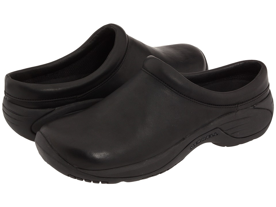 Merrell - Encore Gust (Smooth Black Leather) Mens Slip on  Shoes
