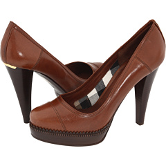 Burberry Leather Platform Pump Redwood - Zappos.com Free Shipping BOTH Ways :  zapposcom burberry heels shoes