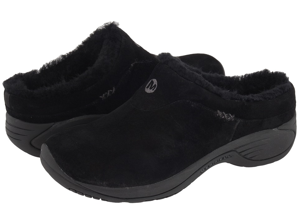 Merrell Encore Ice (Black Suede Leather) Women's Clogs