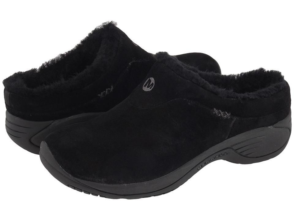 Merrell Encore Ice (Black Suede Leather) Women's Clogs