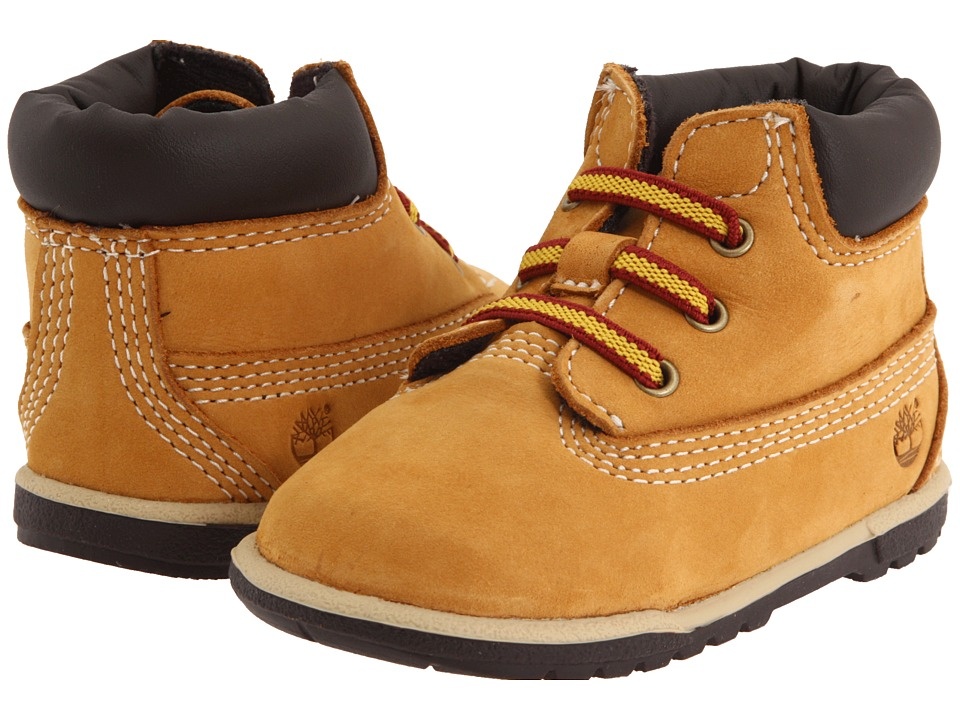 Timberland Kids 6 Crib Bootie (Infant) (Wheat Nubuck) Boys Shoes