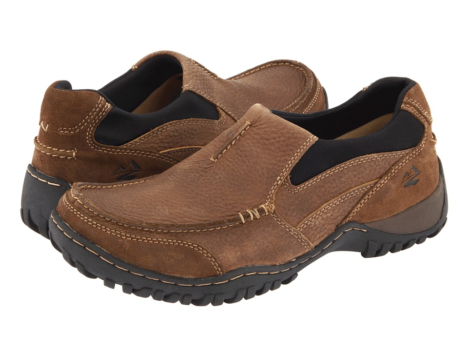 Nunn Bush - Portage Slip-On Casual All Terrain Comfort (Prairie Beige Leather) Mens Slip on  Shoes