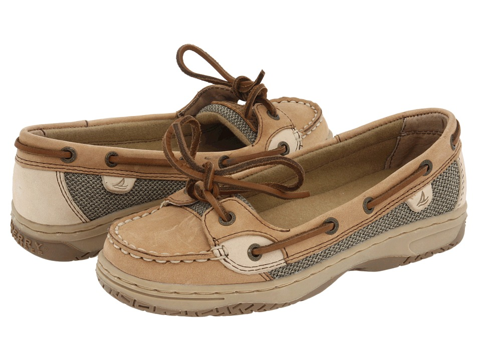 Sperry Top Sider Kids Angelfish Little Kid/Big Kid Linen/Oat Leather Girls Shoes