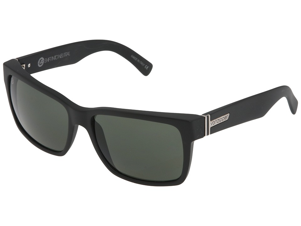VonZipper Elmore S.I.N. (Black Satin/Grey) Fashion Sunglasses