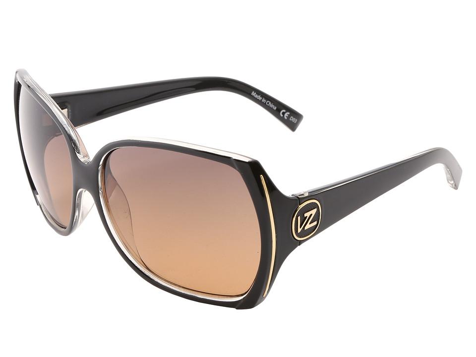 VonZipper Trudie (Black Crystal/Gradient) Sport Sunglasses