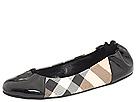 Burberry - Nova Check Soft Ballerina (Black) - Footwear