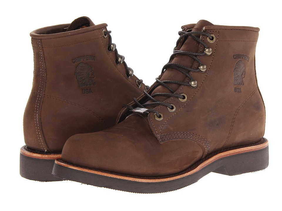 Chippewa - American Handcrafted GQ Apache Lacer Boot (Brown) Men's Work Lace-up Boots