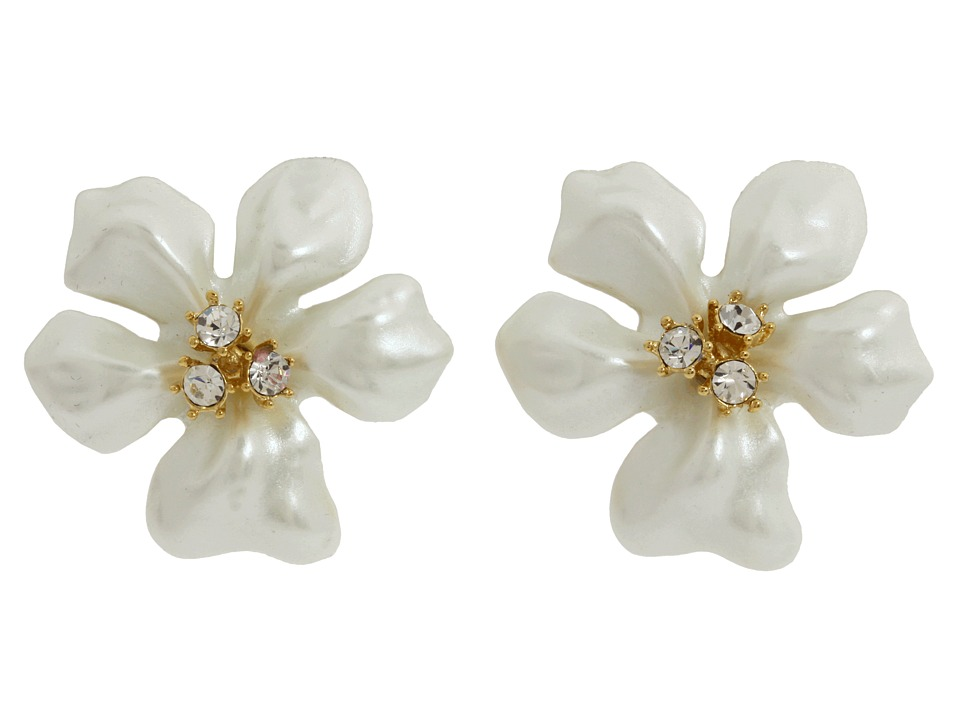 Kenneth Jay Lane - Flowergirl Earrings (White) Necklace
