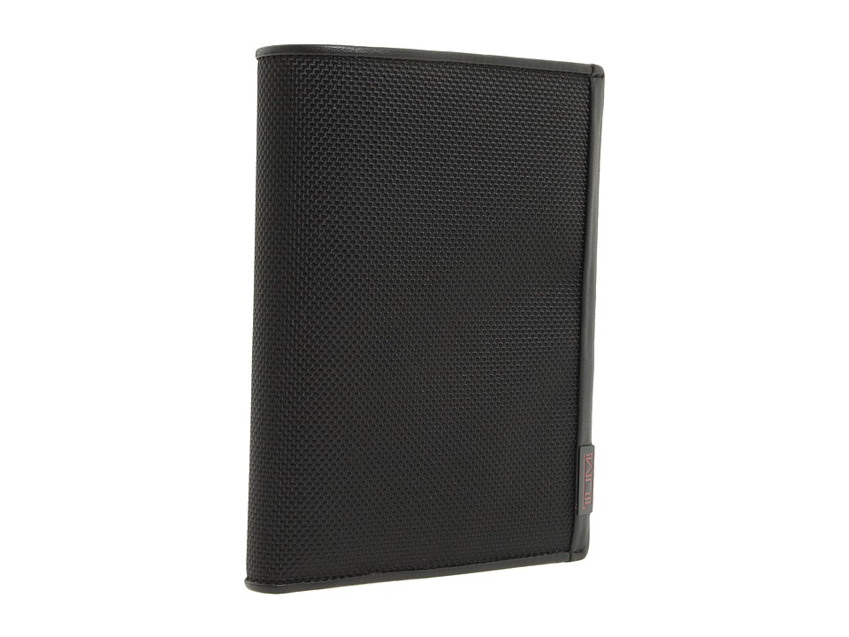 Tumi - Alpha Accessories - Passport Case (Black Leather) Bill-fold Wallet