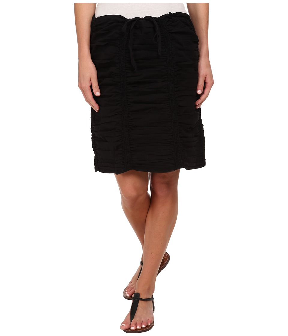 XCVI - Double Shirred Panel Knee Length Skirt