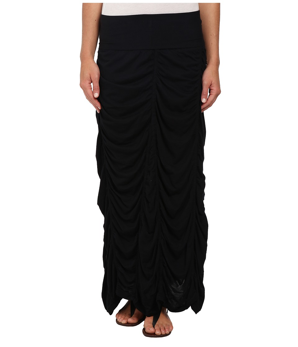 XCVI Jersey Peasant Skirt Black Womens Skirt