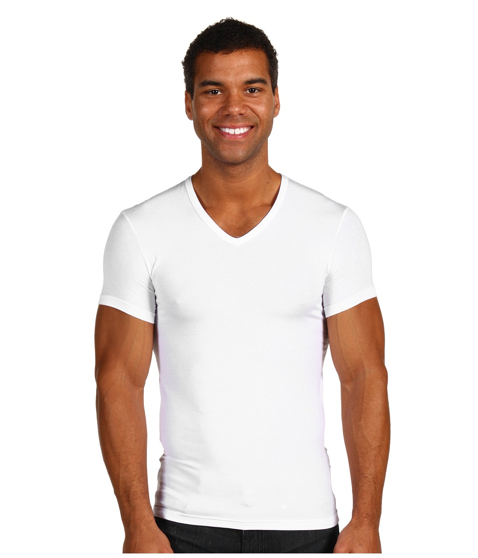 Calvin Klein Underwear - Body Micro Modal S/S V-Neck U5563 (White) Men