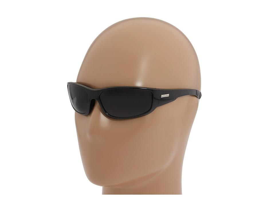 SunCloud Polarized Optics Pursuit Black Backpaint/Gray Lens Sport Sunglasses