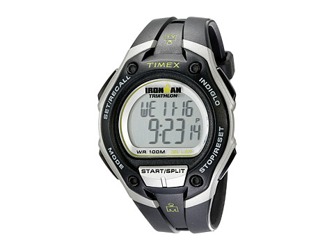 Timex Ironman® 30 Lap Mega - Black/Silver/Green Resin