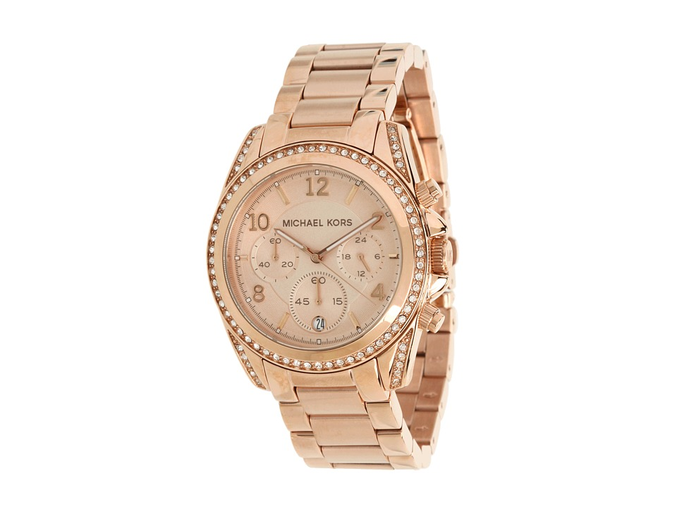 Michael Kors MK5263 - Blair Chronograph (Rose Gold) Analo...